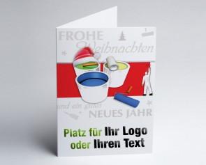 Weihnachtskarte 150221-112 Logo-Branchenkarte Maler