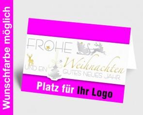 Logo-Weihnachtskarte 150242-111 in Ihrer Wunschfarbe
