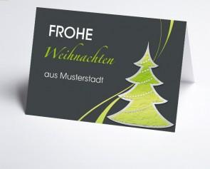 Grüße aus... Weihnachtskarte 150247-113 Grafischer grüner Baum