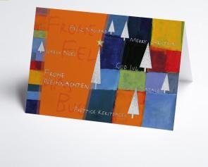 Weihnachtskarte  150266-103 Kunstkarte orange international