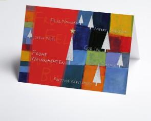 Weihnachtskarte  150268-100 Kunstkarte rot international