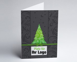 Logo-Weihnachtskarte 150275-102 grüner Baum