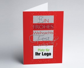Logo-Weihnachtskarte 150279-100 Weihnachtsgruß rot