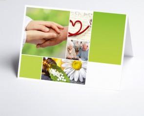 Logo-Grusskarte 150296-200 Branche Pflege