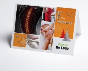 Logo-Weihnachtskarte 150297-190 Branche Orthopädie