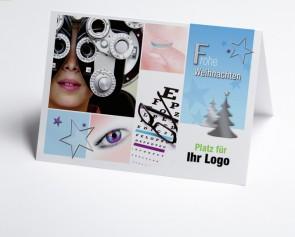 Logo-Weihnachtskarte 150300-190 Branche Augenarzt