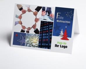 Logo-Weihnachtskarte 150301-190 Branche Finanzen