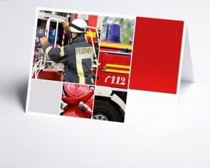 Logo-Grusskarte 150302-200 Branche Feuerwehr