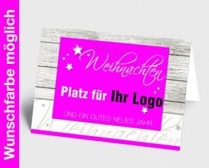 Logo-Weihnachtskarte 150329-111 in Ihrer Wunschfarbe