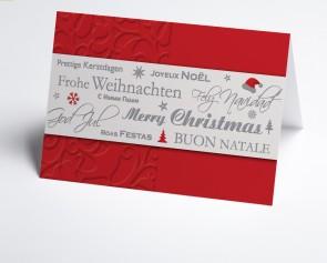 Weihnachtskarte 150334-100 Rote internationale Grüße