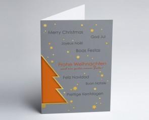Weihnachtskarte 150358-103 Oranger Baum international