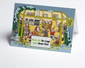 Logo-Weihnachtskarte 150375-112 Branche stationäre Pflege