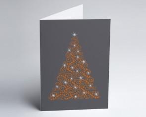 Weihnachtskarte 150386-103 oranger Baum