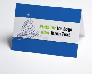 Logo-Weihnachtskarte 150405-101 blauer Schwungbaum