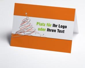 Logo-Weihnachtskarte 150408-103 Orange Schwungbaum