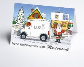 Grüße aus... Weihnachtskarte 150416-113 Branche Hausbau verschiedene Gewerke
