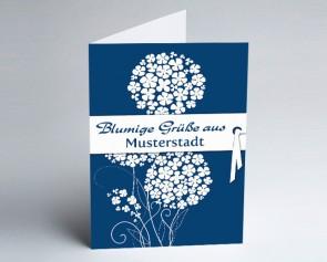 Grüße aus... Glückwunschkarte 150870-113 Zierlauch blau