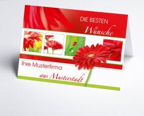 Grüße aus... Glückwunschkarte 150879-113 rote Gerbera