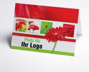 Logo-Grusskarte 150879-112 Marienkäfer