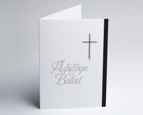 Trauerkarte 150882-112 Kreuz: Aufrichtiges Beileid.