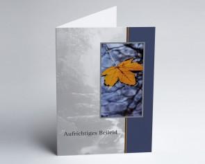 Trauerkarte 150890-112 Blatt: Aufrichtiges Beileid.