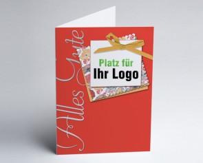 Logo-Grusskarte 150903-100 alles Gute, rot