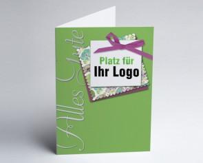 Logo-Grusskarte 150906-102 alles Gute, grün