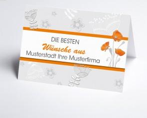 Grüße aus... Glückwunschkarte 150922-113 filigrane Blüten