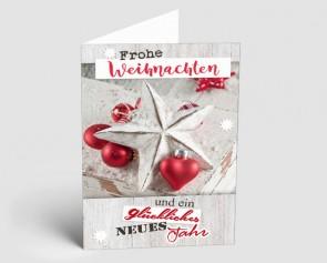 Weihnachtskarte 1518300 Vintage Line: Stern