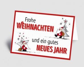 Weihnachtskarte 1518304 illustrierter Weihnachtsmann