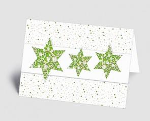 Weihnachtskarte 1518312 filigrane grüne Sterne