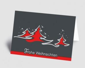 Weihnachtskarte 1518315 abstrakte rote Bäume
