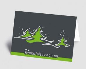Weihnachtskarte 1518317 abstrakte grüne Bäume