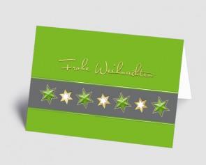 Weihnachtskarte 1518322 Sternenband grün