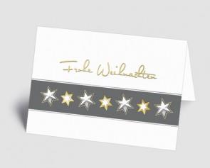 Weihnachtskarte 1518325 Sternenband weiß