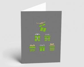 Weihnachtskarte 1518330 grüne Geschenke