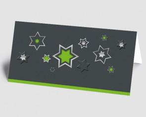 Weihnachtskarte 1518341 grafische Sterne, grün