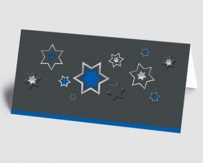 Weihnachtskarte 1518342 grafische Sterne, blau