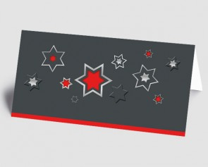 Weihnachtskarte 1518343 grafische Sterne, rot