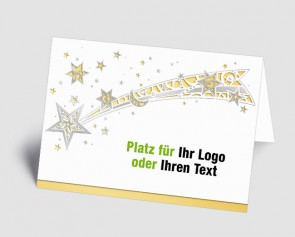 Logo-Weihnachtskarte 1518410 Sternschnuppe, gold