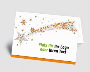 Logo-Weihnachtskarte 1518414 Sternschnuppe, orange