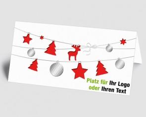 Logo-Weihnachtskarte 1518417 rote Weihnachtselemente