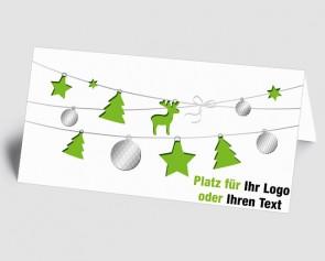 Logo-Weihnachtskarte 1518419 grüne Weihnachtselemente