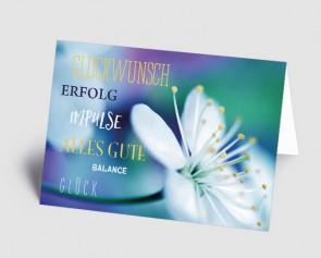 Grusskarte 1519104 Blüte und Typografie