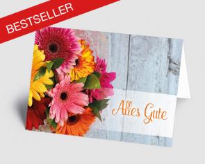 Grusskarte 1519107 Blumenstrauß
