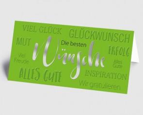 Grusskarte 1519122 Moderne Typografie grün