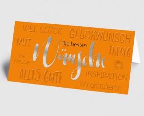 Grusskarte 1519123 Moderne Typografie orange