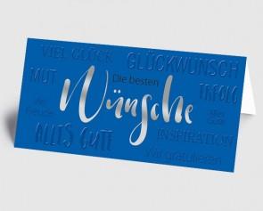 Grusskarte 1519124 Moderne Typografie blau