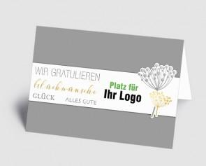 Logo-Grusskarte 1519201 Glückwunsch