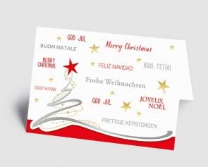 Weihnachtskarte 1519302 Schwungbaum, international rot